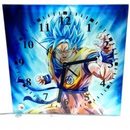 Reloj de cristal cuadrado goku