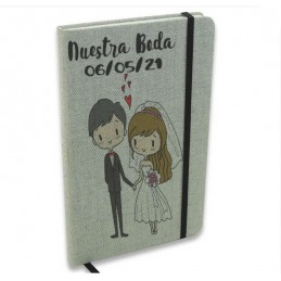 Blocs de notas personalizado-ideal firmas boda