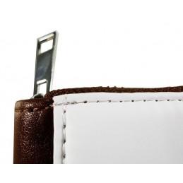 Cartera monedero personalizada marrón con cremallera