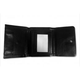 Cartera monedero negra para hombre con foto