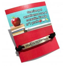 Pulsera para la mejor profe+tarjeta