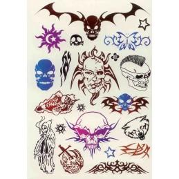 Libro de tatuajes Tattoos 280 unidades - Skulls - Style 32