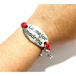 Llavero y pulsera regalo para madrina y padrino