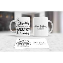 Taza para maestros de ceremonias personalizada