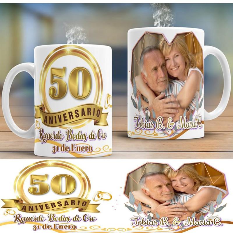 Taza aniversario bodas de oro