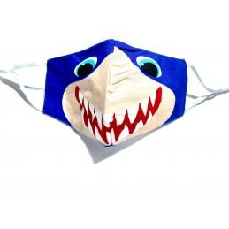 Mascarilla infantil tiburón azul comoda y segura