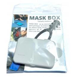 Mask box estuche universal gris+salva orejas negro