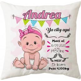 Cojín personalizado natalicio 6 bebes diferentes