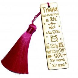 Marca paginas personalizado natalicio de madera