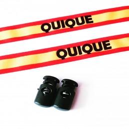 Pulsera de tela ajustable motivo Bandera de España con mensaje