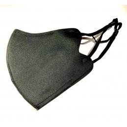 Mascarilla de neopreno reutilizable negra elástica ajustable