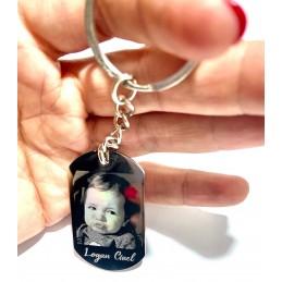 Llavero con foto grabado acero personalizado a tu gusto