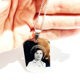 Medalla colgante con foto grabada
