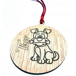 Adorno de Navidad especial mascotas con su nombre