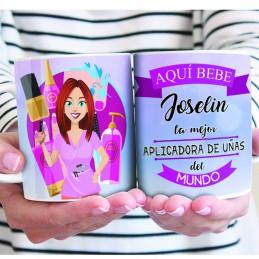 Taza especial aplicadora de uñas/ esteticista