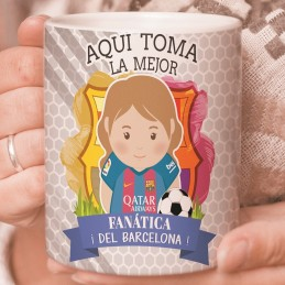 Taza personalizada FC Barcelona con nombre
