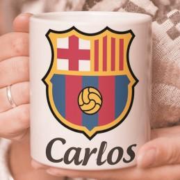 Taza Barça Barcelona Personalizada con nombre