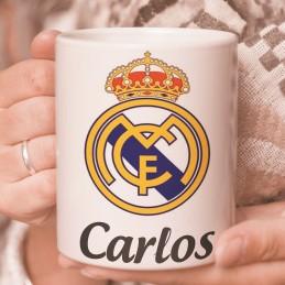 Taza Real Madrid personalizada con nombre