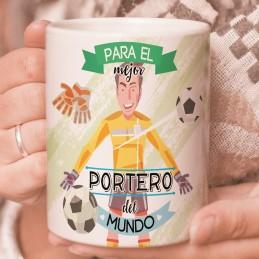 Taza especial para futboleros y porteros