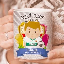 Taza del club de futbol Elche C. F personalizada