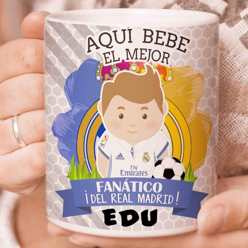 Taza desayuno Real Madrid C.F. personaizada