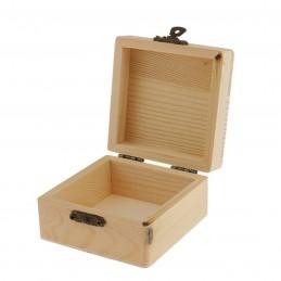 Caja de madera grabada con tu texto o foto, diseña tu mismo