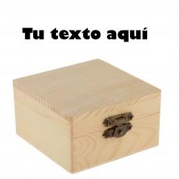 Caja de madera grabada con tu texto