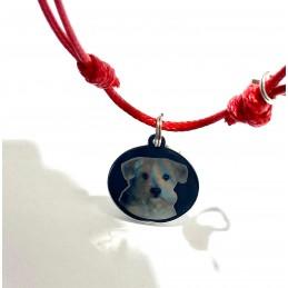 Pulsera ajustable recuerdo de tu mascota con foto