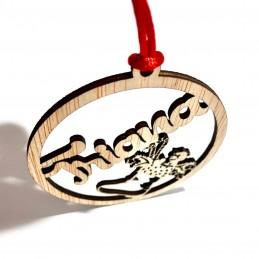 Bola Navidad con Nombre en madera