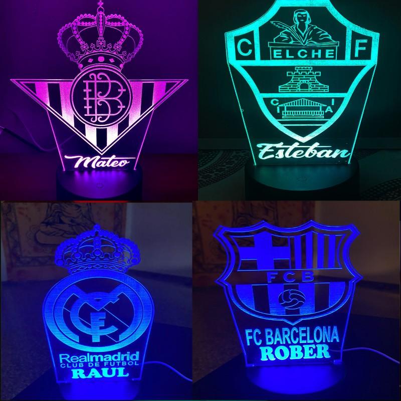 Panel Led escudo equipo de futbol-combinación de colores y mando