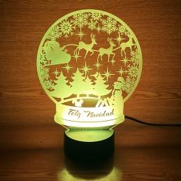Lampara LED 3D decoración para navidad personalizada