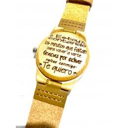 Reloj personalizado con foto y texto