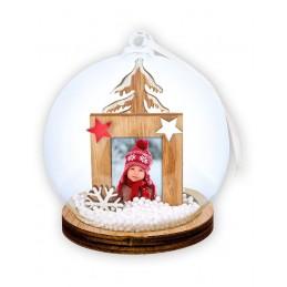Bola de nieve navidad con foto personalizada 3,5x4,5 cm