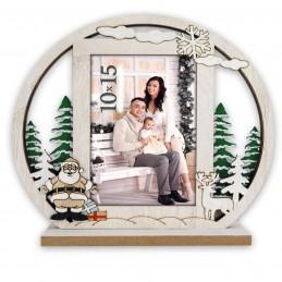 Marco de fotos personalizado para navidad