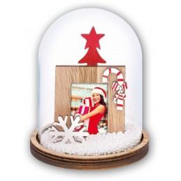 Bola de nieve con tu foto personalizada
