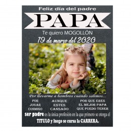 Especial día del padre, lámina personalizada con foto
