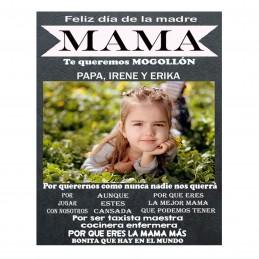 Especial día de la madre, lámina personalizada con foto
