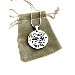 Colgante medalla regalo para las amistades, amigas