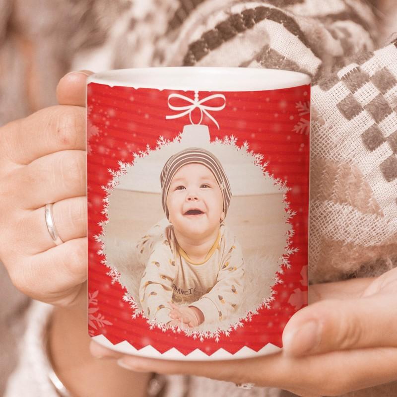 Taza de Navidad con foto