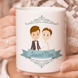Taza pedida para testigos de boda