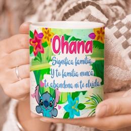 Stitch Ohana Taza familia