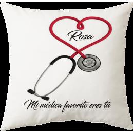 Cojín regalo médicos personalizado