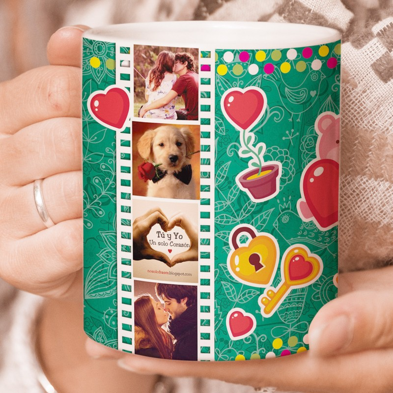 Taza regalo enamorados en san valentín o aniversario