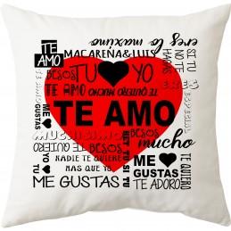 Cojin palabras de amor regalo enamorados