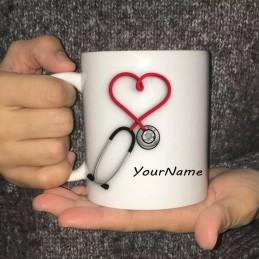 Taza personalizada Estetoscopio médicos o enfermeras