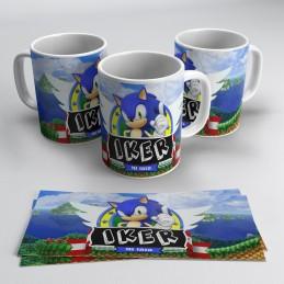 Taza erizo personalizada Sonic