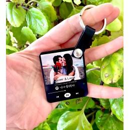 Llavero acrílico con foto y tu música por Código de Spotify