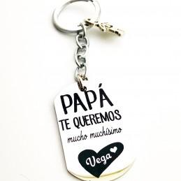 Llavero personalizado te queremos Papá