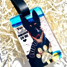 Llavero perro personalizado conmemorativo Pérdida de mascota
