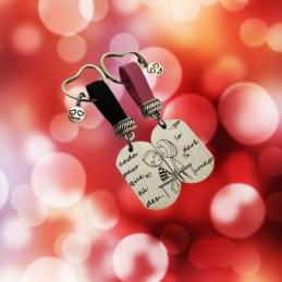 Llaveros dúo amor cada paso que tu des...yo lo daré contigo especial regalo san valentin y aniversarios